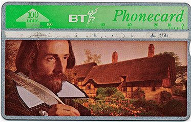 Maloviere as Shakespeare - BT Phonecard